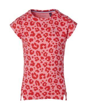 Quapi meisjes t-shirt Fief shell pink leopard