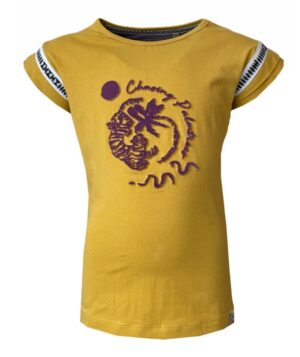 Topitm meisjes t-shirt Zinzi okergeel