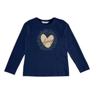 Mayoral meisjes t-shirt navy basic 178