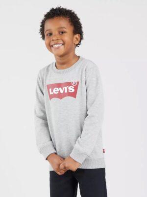 Levis sweater batwing ronde hals grijs