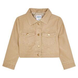 Mayoral meisjes jacket 4432 beige imitatie leer
