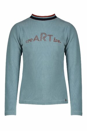Nono meisjes t-shirt Kusan velours icy blue