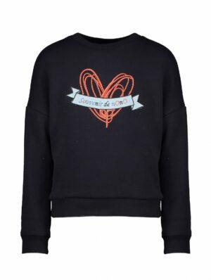 Nono meisjes sweater Kessa navy N108-5306