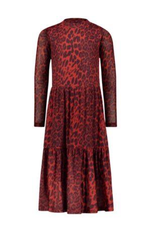 Like Flo jurk F109-5845 rood animal print